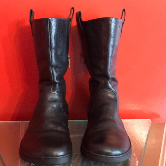 ef5a461c680 Born INNA Mid Calf black leather boots Size 8